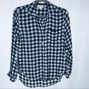 Cloth & Stone Gingham Button Down Shirt XS